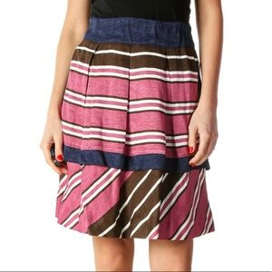 Maeve Pink Checkered Chic A-Line Skirt, Size 4